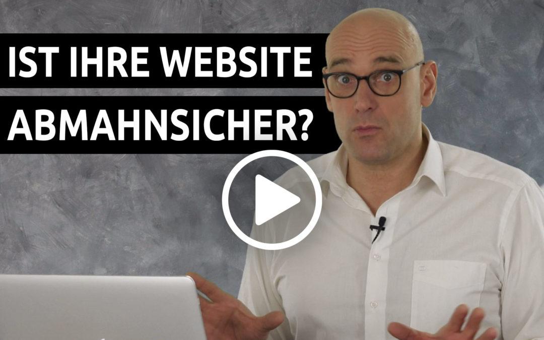 Ist deine Website abmahnsicher?